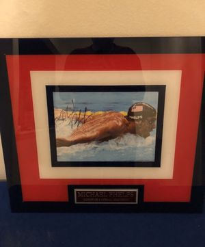 Micheal Phelps Framed Collectable for Sale in San Antonio, TX