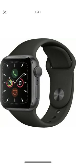 Apple Watch Series 5 44mm Space Gray Aluminum Black Band GPS for Sale in Germantown, MD