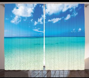 Curtains 108 x 84 Ocean Tropical Sand Paradise Vacation Living Bed Room Patio Windows Decor Backdrop for Sale in Orlando, FL