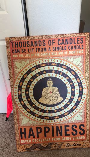 Buddha Canvas for Sale in Sandy, OR
