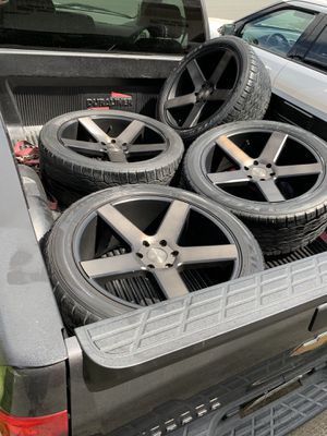 22s dub baller rims and tires ford 6 lug for Sale in Pinole, CA