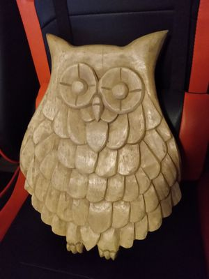 HANDMADE CARVED WOODEN OWL for Sale in Marlborough, MA