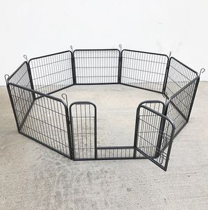 "New $70 Heavy Duty 24"" Tall x 32"" Wide x 8-Panel Pet Playpen Dog Crate Kennel Exercise Cage Fence Play Pen for Sale in El Monte, CA"