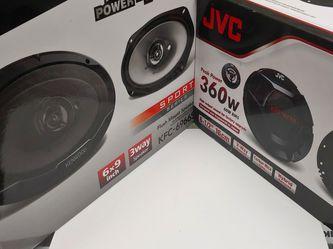 Car speakers :( total 2 pairs ) 1 pair JVC 6.5 inch component 360 watts & 1 pair KENWOOD 6×9 3 Way 400 watts Car Speakers for Sale in Bell Gardens,  CA