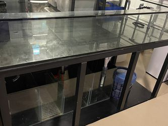 Reef Coral Fish Frag Tank Aquarium With Aluminum Stand Glass Sump for Sale in Pomona,  CA