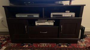 Dark Brown TV stand plus storage ( OBO!) for Sale in Alameda, CA