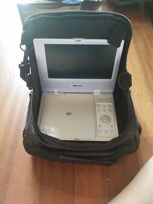 """Used 7"""" Memorex Portable DVD Player, Rechargeable Battery Pack & Case for Sale in Spring, TX"""