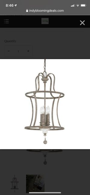 Austin Allen Zoe 4 Light Chandelier –French Antique for Sale in Indianapolis, IN