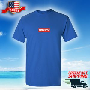 Supreme Box Logo Blue T-Shirt - Custom made - SAME DAY SHIPPING for Sale in SUNNY ISL BCH, FL