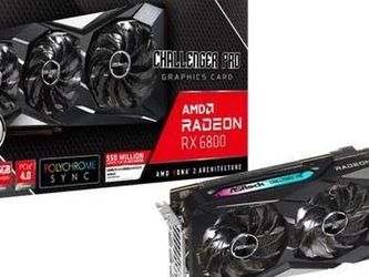 RX 6800 16 GB AMD Radeon ASrock Challenger Pro OverClock Edition | Compare with 3080/3090 for Sale in Fairfax Station,  VA