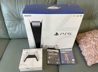 Sony Playstation 5 PS5 DISC Version Bundle - IN-HAND READY TO SHIP for Sale in Fontana, CA