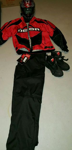 ICON motorcycle gear with helmet! for Sale in Westminster, MD