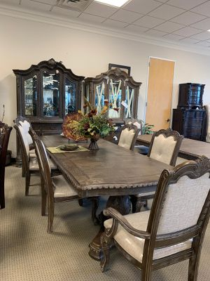 🍻39 DOWN🍻Brand New 7-Piece Gray Formal Dining Set.[ Table & 6 Side Chairs ] for Sale in Houston, TX