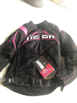 Women's Icon Motorcycle Riding Jacket for Sale in Alexandria, VA
