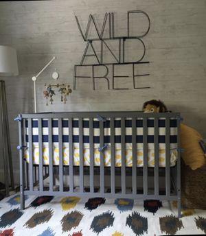 Gray Crib for Sale in Dallas, TX