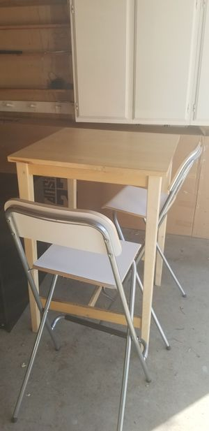 IKEA tall breakfast table and two chairs for Sale in San Mateo, CA