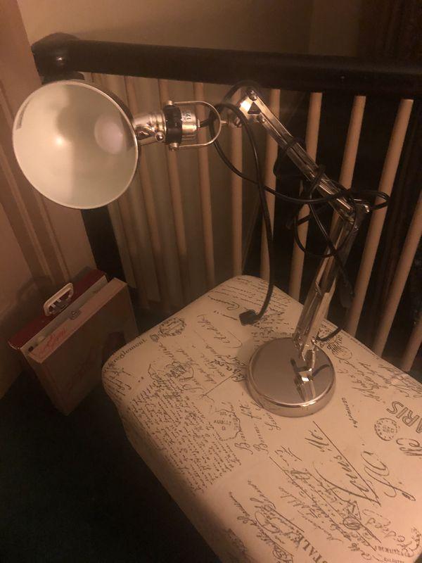 Silver desk lamp
