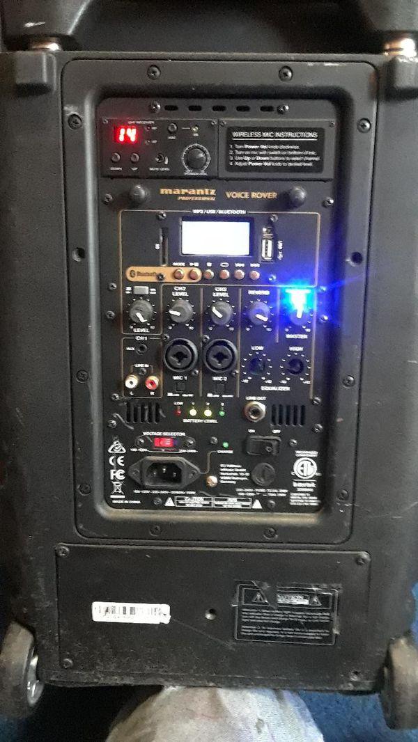 Marantz Voice Rover Portable AC/Battery Powered PA System
