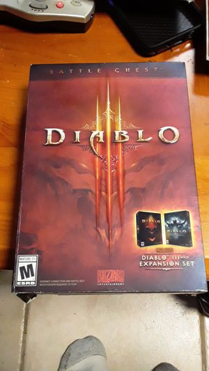 Diablo 3 Battle Chest for PC includes D3 + the expansion set for Sale in Wantagh, NY