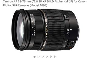 Tamron AF 28-75mm f/2.8 SP XR Di LD Aspherical (IF) for Canon Digital SLR Cameras (Model A09E for Sale in Peachtree City, GA