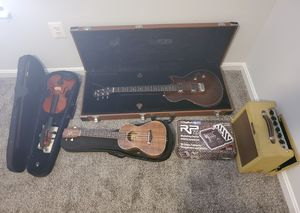 Instruments, electric guitar complete and ukulele for Sale in Stafford, VA