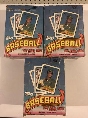 1989 Topps unopened baseball card packs for Sale in Rutland, MA