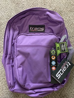 Brand New trans by jansport color purple with tags for Sale in Tampa, FL