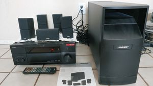 Bose speakers system & yamaha receiver for Sale in Glendale, AZ