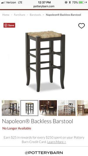 Pottery barn bar stools- BAR HEIGHT :-) for Sale in Virginia Beach, VA