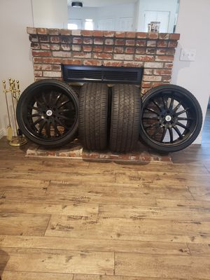 22 inch Ashanti Rims/ brand new tires for Sale in Beaumont, CA