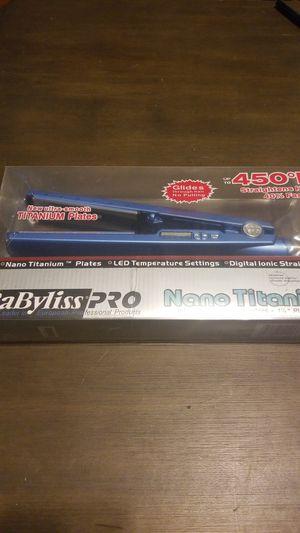 Babyliss pro nano titanium hair straightener for Sale in Richmond, VA