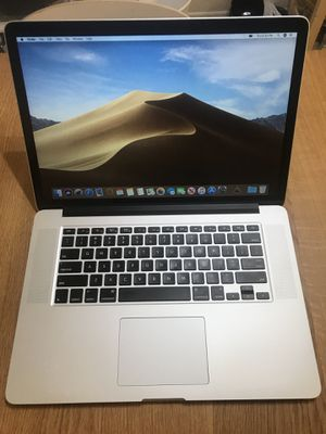MacBook Pro 15 inch 2015 2.8ghz i7(high processor) 16GB 500GB SSD ADM Radeon R9 M370X 2GB model with paid programs for Sale in Upland, CA