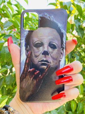 Brand new cool iphone 11 PRO MAX 6.5 case cover phone case rubber, Halloween Michael Myers horror movies girls guys mens womens skate skateboa for Sale in San Bernardino, CA