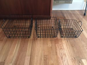 3 PC Metal Basket Set (could be wall shelves) for Sale in Los Angeles, CA