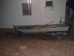 12ft Jon boat and trailer for Sale in Carrboro, NC