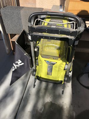 Almost New Cordless LawnMower for Sale in Sloan, NV