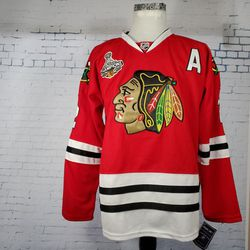 New Reebok CCM Chicago Blackhawks 2015 Championship Men's CCCM Size 54 Jersey Duncan Keith for Sale in La Grange,  IL