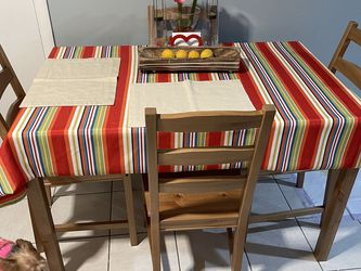 Table and 4 chairs, antique stain. $69 for Sale in Kearny,  NJ