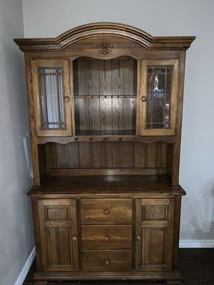 Antique Wooden China Cabinet for Sale in Dallas, TX