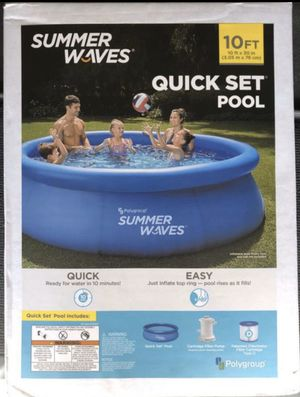 Summer Waves 10 ft X 30 in Quick Set Swimming Pool - Entire Set w Filter & Pump Included for Sale in Chandler, AZ
