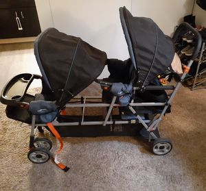 Negotiable Joovy big caboose triple sit and stand stroller negotiable for Sale in Las Vegas, NV