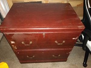 Wood filing cabinet for Sale in Albuquerque, NM