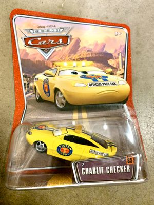 New Disney Pixar Cars #65 Charlie Checker Piston Cup Pace Car DieCast Toy Mattel for Sale in Mission Viejo, CA