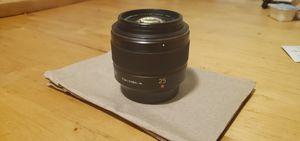 Panasonic leica 25mm micro 4/3 camera lens for Sale in La Puente, CA