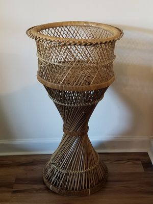 Vintage Cane Wicker Plant Stands for Sale in Palos Park, IL