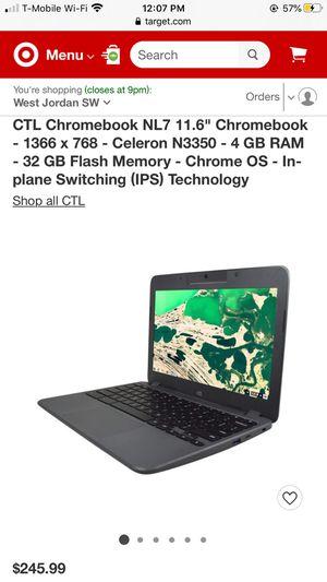 "CTL Chromebook NL7 11.6"" N3350-4 GB RAM-32 GB Flash Memory-Chrome OS for Sale in Bingham Canyon, UT"