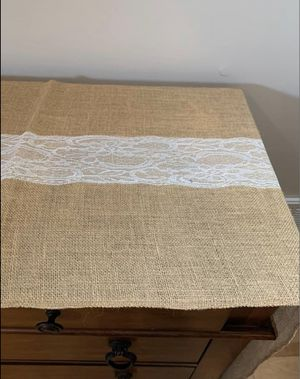 Burlap table runners for Sale in Danvers, MA