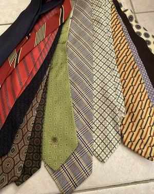 Vintage 13 Ties Ralph Lauren Burberry Tommy Hilfiger Italian Ties for Sale in Aventura, FL