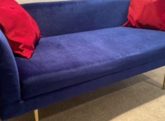 Small Velvet Blue Sofa (for Child Or Pet's Room) for Sale in Henderson,  NV