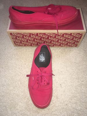 Authentic Men's Red Vans for Sale in Raleigh, NC